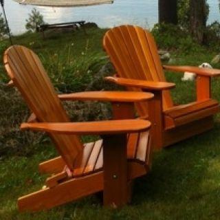 Royal Adirondack Chair CR11 Straight - recht en Dark Mahogany (Canadian Chair, Canadese tuinstoel)
