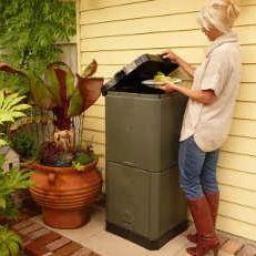 Aerobin 200 L warmte compostbak (compostvat met gepatenteerd beluchting systeem van THO-M)