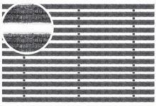 Voetmat 75 x 50 x 2 cm, aluminium met tapijtstroken, antraciet ATA (Easygarden, ACO artikel 01211)