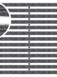 Voetmat 60 x 40 x 2 cm, aluminium met tapijtstroken, antraciet (Easygarden, ACO artikel 01210)