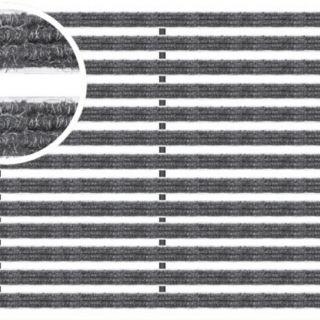 Voetmat 100 x 50 x 2 cm, aluminium met tapijtstroken, antraciet ATA (Easygarden, ACO artikel 01212)