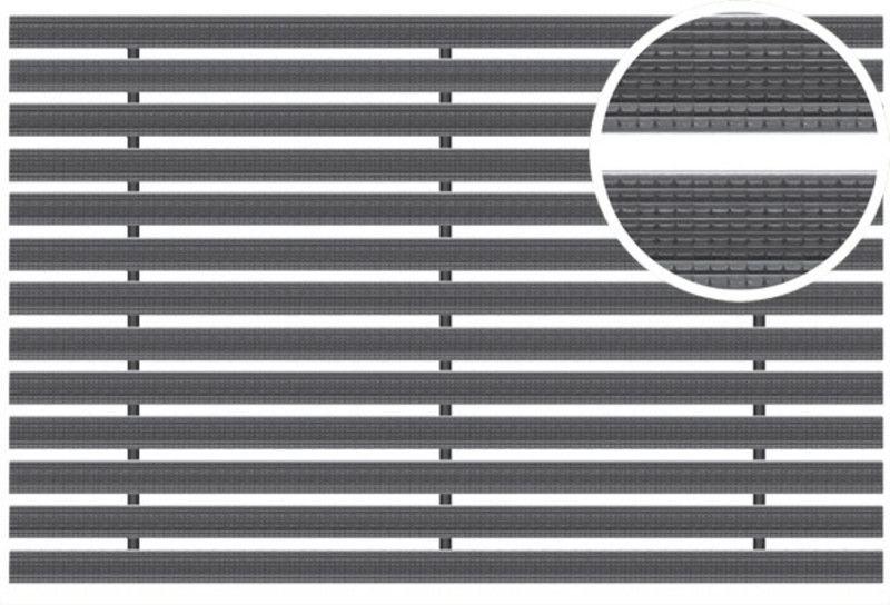 Voetmat 60 x 40 x 2 cm, aluminium met rubberstroken, zwart ARZ (Easygarden, ACO artikel 01213)