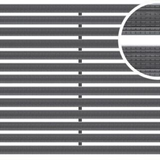 voetmat 75 x 50 x 2 cm, aluminium met rubberstroken, zwart ARZ (Easygarden, ACO artikel 01214)
