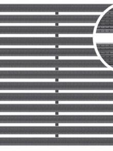 Voetmat 100 x 50 x 2 cm, aluminium met rubberstroken, zwart ARZ (Easygarden, ACO artikel 01215)