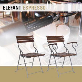 ELEFANT stoel Espresso (2050EV, Klassieke tuinstoel, terrasstoel)