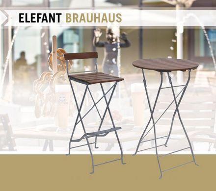 ELEFANT staantafel Brauhaus rond 70 cm (2270EV, Klassieke statafel voor buiten)
