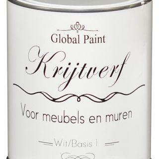 Global Paint - Krijtverf 0,5 liter (matte krijtverf voor meubels en muren)
