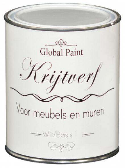 Global Paint - Krijtverf 1 liter (matte krijtverf voor meubels en muren)