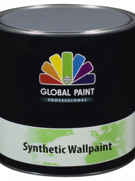 Global Paint - Synthetic Wallpaint 2,5 liter (Witte Synthetische renovatie muurverf)