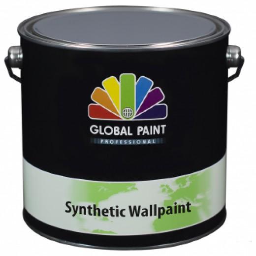Global Paint - Synthetic Wallpaint 2,5 liter (Witte Synthetische renovatie muurverf)