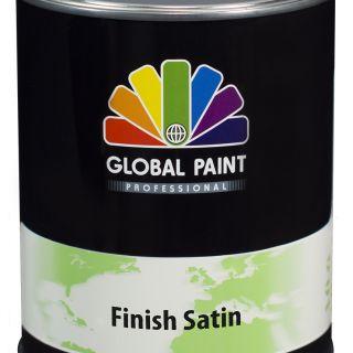 Global Paint - Finish Satin 1 liter (zijdeglans aflak / houtverf voor buiten)