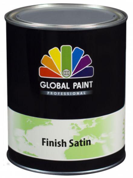 Global Paint - Finish Satin 2,5 liter (zijdeglans aflak / houtverf voor buiten)