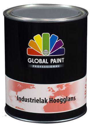 Global Paint - Industrielak Hoogglans 0,5 liter (krasvaste houtverf voor buiten)