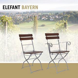 ELEFANT stoel Bayern in notenkleur (2049EV, Klassieke tuinstoel, terrasstoel)