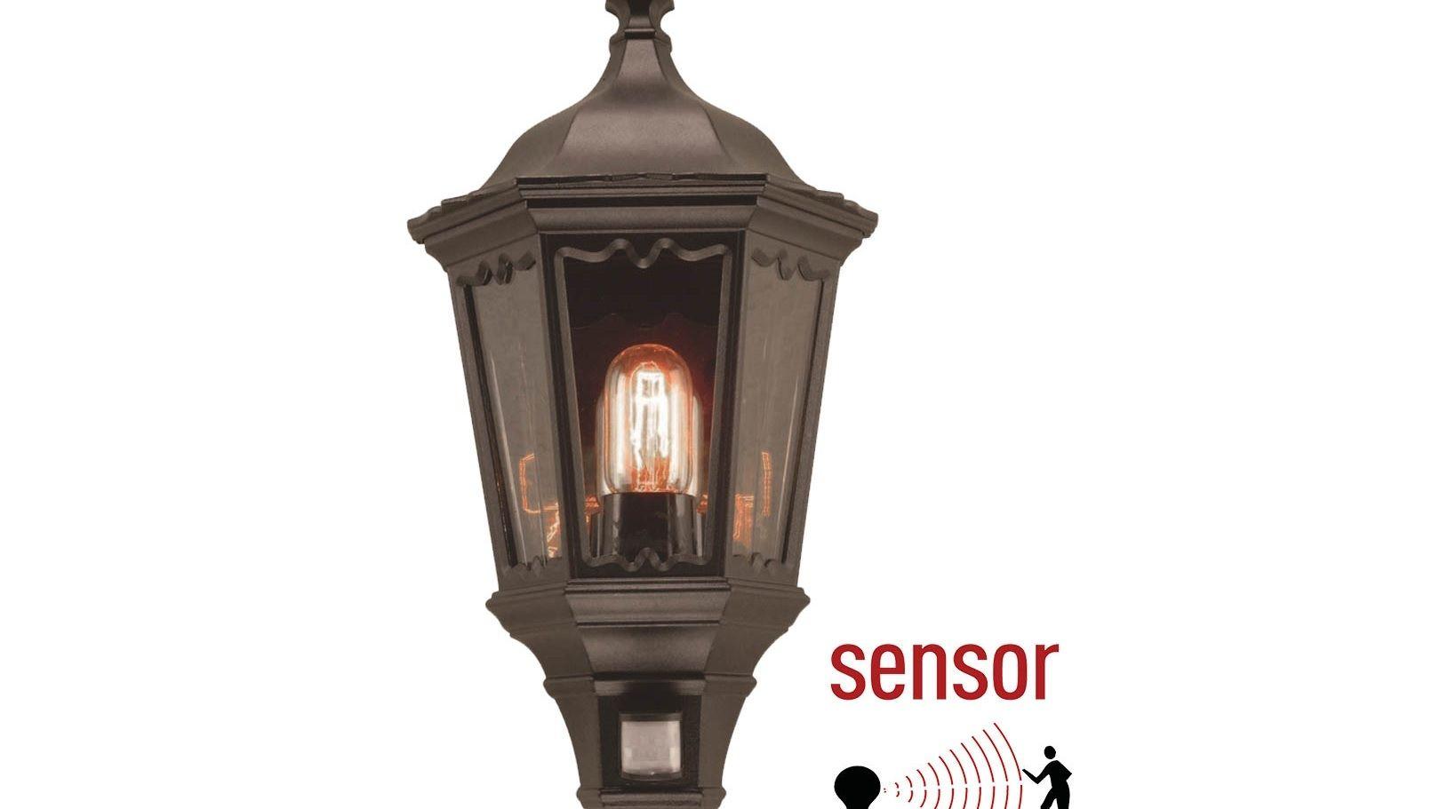 Sensor traditionele buitenlamp met ingebouwde