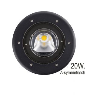 Zwarte A-symmetrische Grondspot LED 20W (Prospot 10-335753)