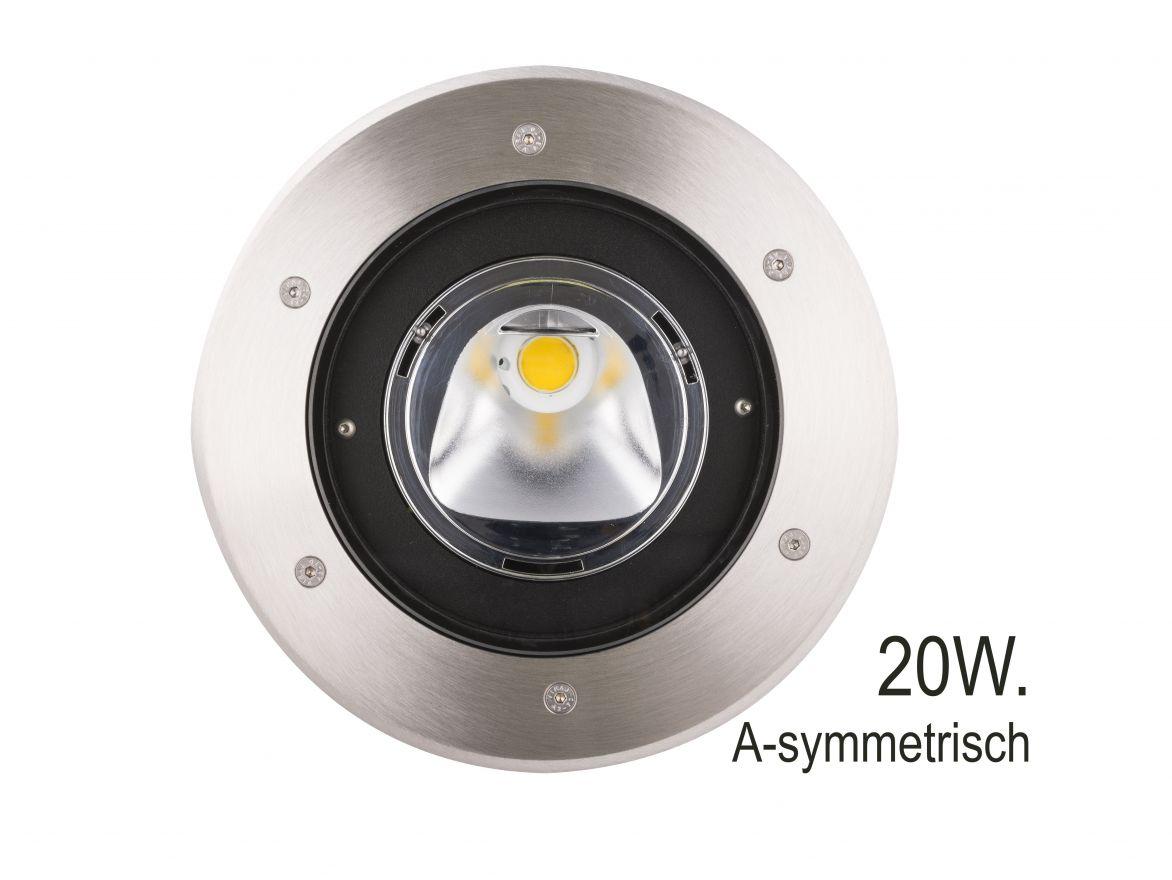 RVS A-symmetrische Grondspot LED 20W (Prospot 10-335754)