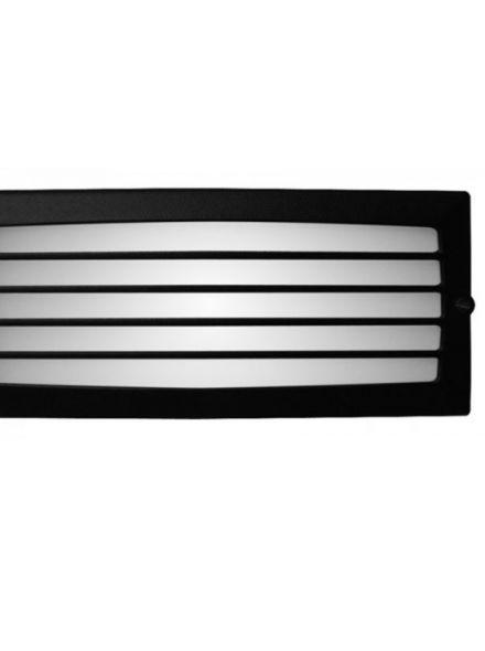 Spotpro wand inbouw, rooster zwart e27 (gevellamp 411)