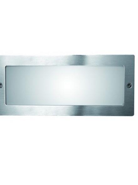 Spotpro wand inbouw, RVS e27 (gevellamp 412)