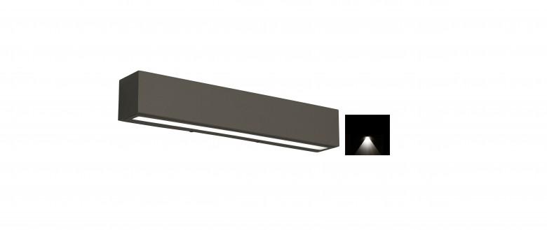 Gevel lamp, down, rechthoek xl (Gevelspot 321312-25)