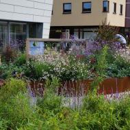 Buitenkeuken en tuin bedrijfspand