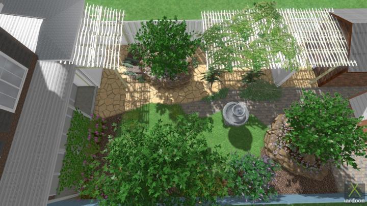 Mediterranean style garden in Rotterdam