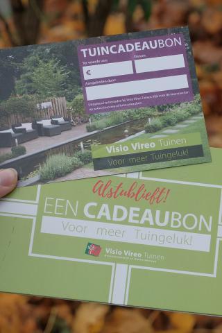 Feestdagentip: de Visio Vireo Tuincadeaubon!