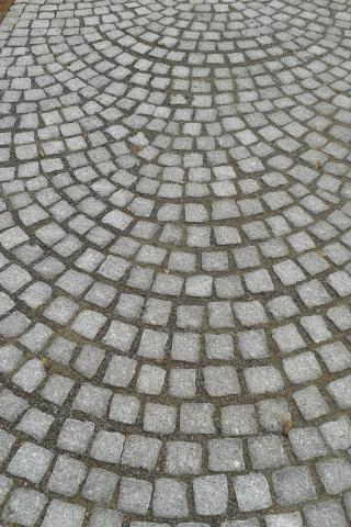 schelpenverband met Portugees graniet