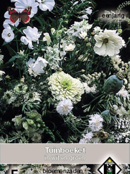Tuinboeket in wit en groen (zaden bloemenmengsels, plukbloemen, art. 36318)