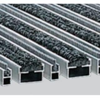 Voetmat 60 x 40 x 2 cm, aluminium met tapijt- en borstelstroken, antraciet ATBA (ACO Easygarden artikelnummer 37160)