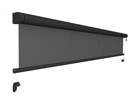 Oprolbaar windscherm breedte 50 t/m 200 cm x lengte 250 cm (Vento - Luxxout)