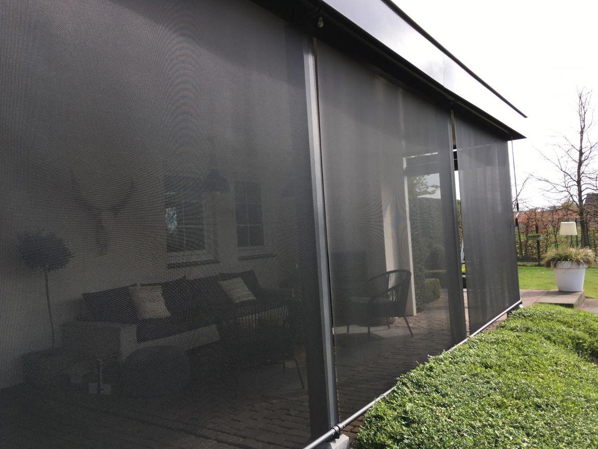 Oprolbaar windscherm breedte 201 t/m 250 cm x lengte 250 cm (Vento - Luxxout)