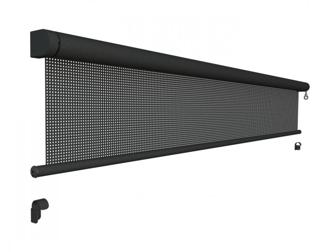 Oprolbaar windscherm breedte 251 t/m 300 cm x lengte 250 cm (Vento - Luxxout)