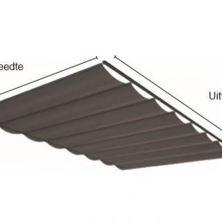 Pergola zonwering SOLEM TIBELLY - Breedte 1 tot 2 meter / uitval 2,5 tot 3 meter (ACRYL - Luxxout terrasoverkapping)