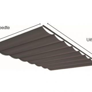 Pergola zonwering SOLEM TIBELLY - Breedte tot 1 meter / uitval 3,5 tot 4 meter (ACRYL - Luxxout terrasoverkapping)
