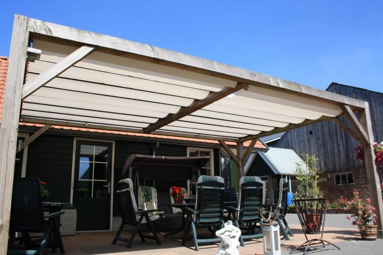 Pergola zonwering SOLEM TIBELLY - Breedte 2 tot 2,5 meter / uitval 4,5 tot 5 meter (ACRYL - Luxxout terrasoverkapping)