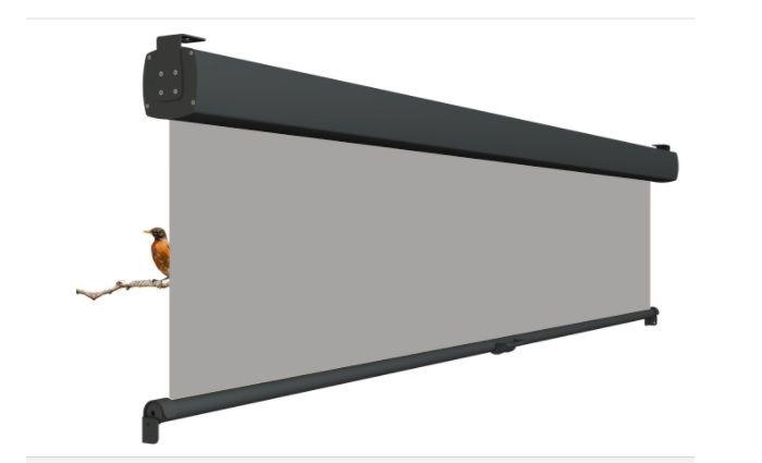 Oprolbaar terrasscherm VITA / Privacyscherm - Cassette breedte 120 t/m 200 cm - uitrollengte 200 cm - doek: Tibelly® XL (Luxxout)