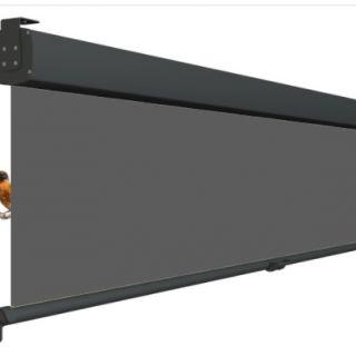 Oprolbaar terrasscherm VITA / Privacyscherm - Cassette breedte 301 t/m 350 cm - uitrollengte 200 cm - doek: Tibelly® XL (Luxxout)