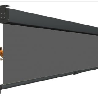 Oprolbaar terrasscherm VITA / Privacyscherm - Cassette breedte 351 t/m 400 cm - uitrollengte 200 cm - doek: Tibelly® XL (Luxxout)