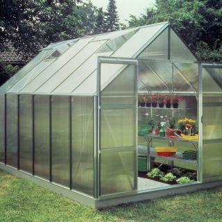 Hobbykas, Serre Magnum 128, polycarbonaat 6mm (Royal Well, Halls Greenhouses)