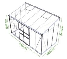 Muurkas Broadway 126, polycarbonaat 6mm/1  (Eden Greenhouses, Royal Well)