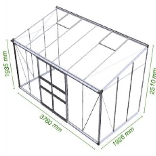 Muurkas Broadway 126, polycarbonaat 6mm/1  (Eden Greenhouses, Royal Well)