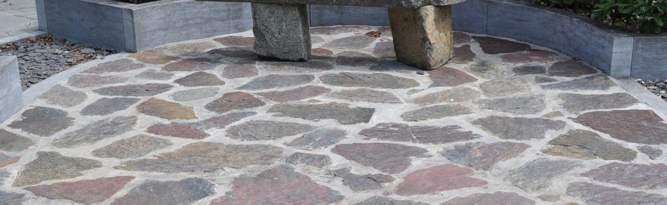 Violetto flagstones 3-7 cm dik (per 1 kg - art. 55023160)