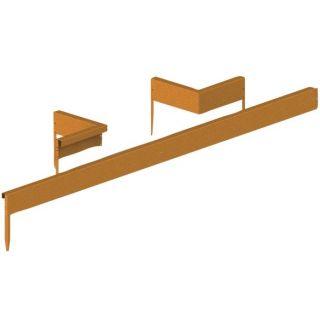 Cortenstaal randafscheiding set koppelstrips (10 stuks) Art. 12005145