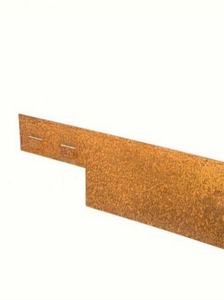 Ongecoat Cor-Ten staal, 3 mm (225 x15,2 cm - vlakke variant - COL-MET - art. 1142183)