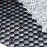 Zwarte grindplaat met antiworteldoek 119 x 78,6 x 3 cm (185 stuks = 165,65 m2 - EXCELLENT)