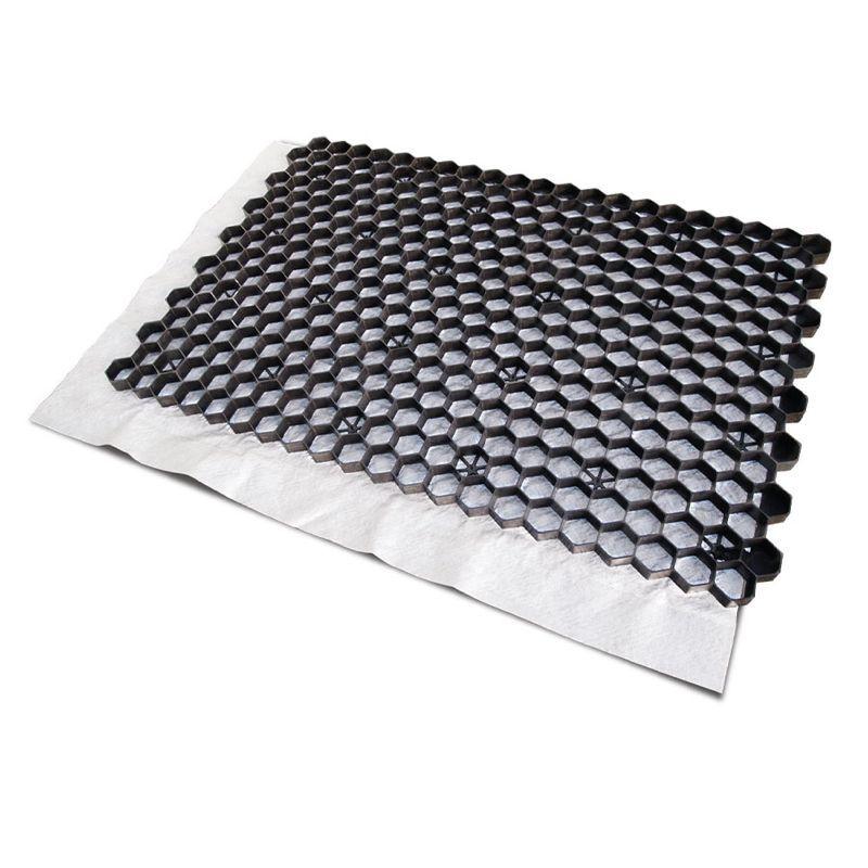 Zwarte grindplaat met antiworteldoek 119 x 78,6 x 3 cm (per stuk - EXCELLENT)