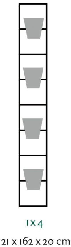 B-E-N-D plantenrek 21 x 162 cm (onbewerkt)
