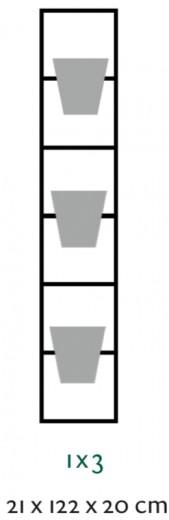 B-E-N-D plantenrek 21 x 122 cm (onbewerkt)