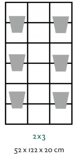 B-E-N-D plantenrek 52 x 122 cm (onbewerkt)